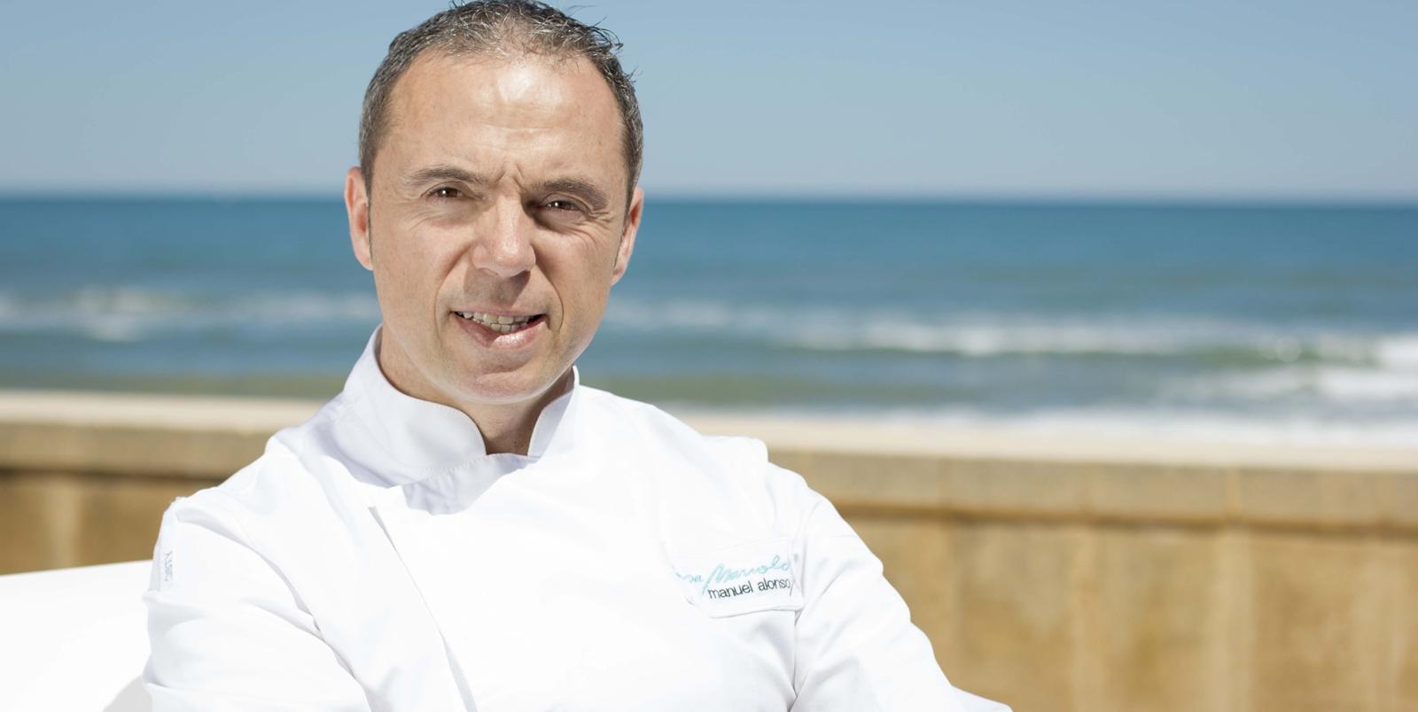 Chef Manuel Alonso, restaurante Casa Manolo con una estrella michelín y dos soles repsol. Daimús Valencia