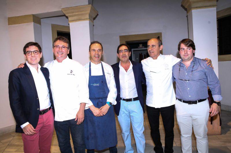 Paco Pérez, Andoni Luis Aduriz y cocineros de la Tasquita de Enfrente, elaboramos un menú conjunto en la Fundación Valentín de Madariaga arturo sanchez